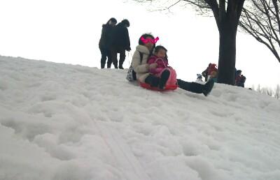 新潟で雪遊び