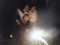 初めての花火