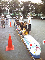 さんま祭りの電車