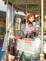 東京ドームシティのメリーゴーランド