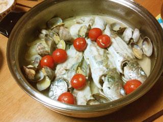 イシモチの料理