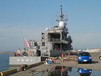 柏崎港の船