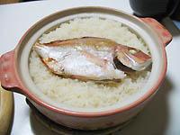 土鍋で鯛飯