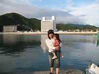 松崎港からのまつざき荘