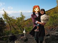 富士山五合目にて