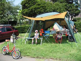 城南島でキャンプ
