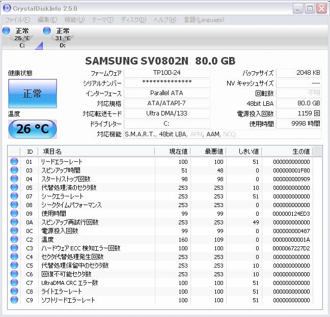 HDDのスマート情報